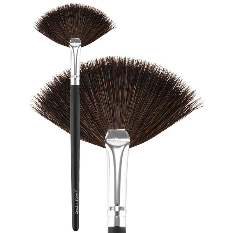 Makeup Brushes - Classic Small Fan Brush Natural By Coastal Scents