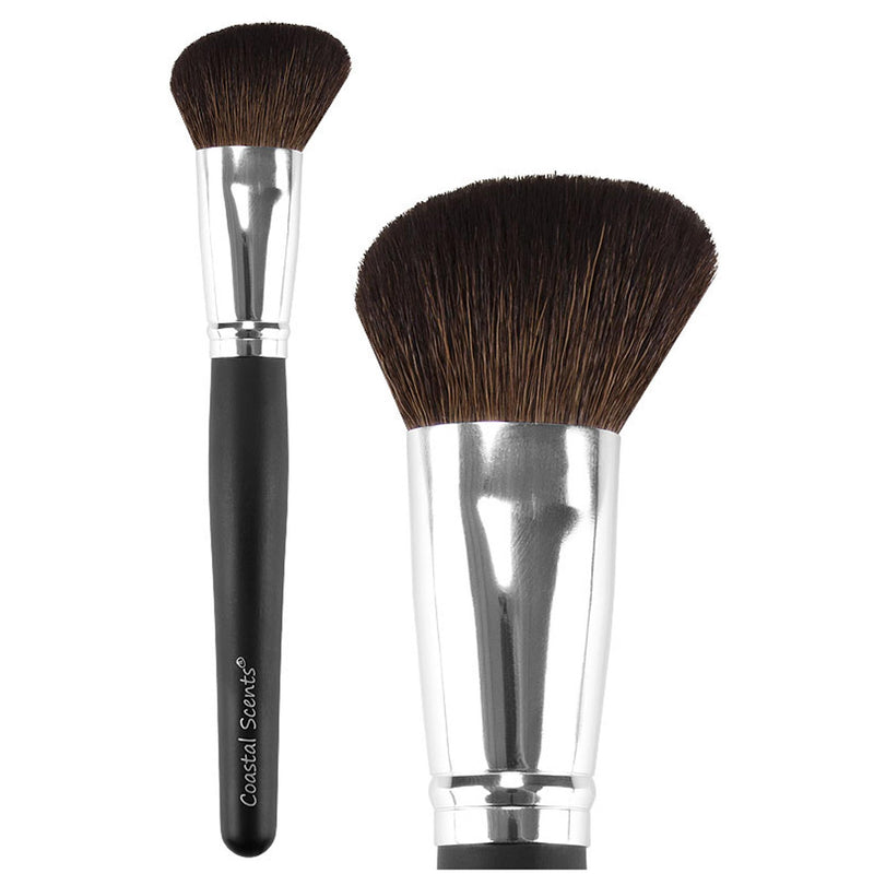 Classic Angled Powder Natural Makeup Brush By Coastal Scents