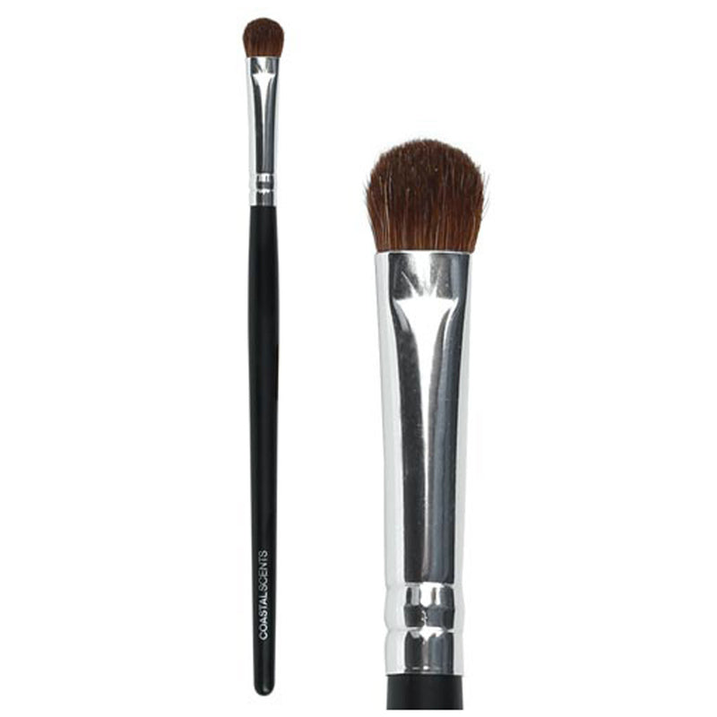 Makeup Brushes - Classic Shade and Fluff Brush Medium Natural By Coastal Scents