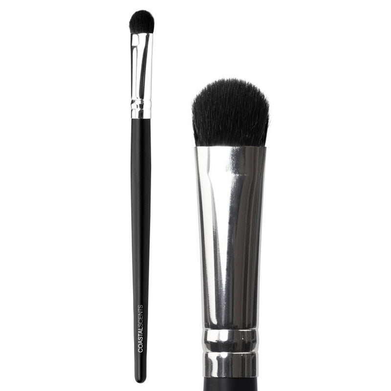 Makeup Brushes - Classic Shadow Brush Medium Synthetic By Coastal Scents