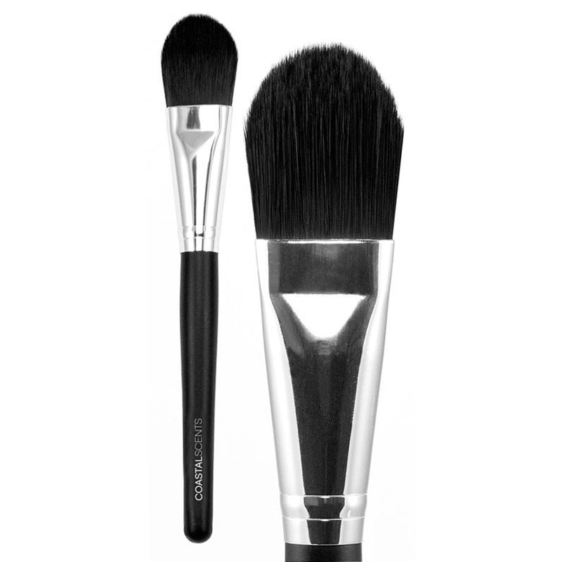 Makeup Brushes - Classic Foundation Brush Large Synthetic By Coastal Scents