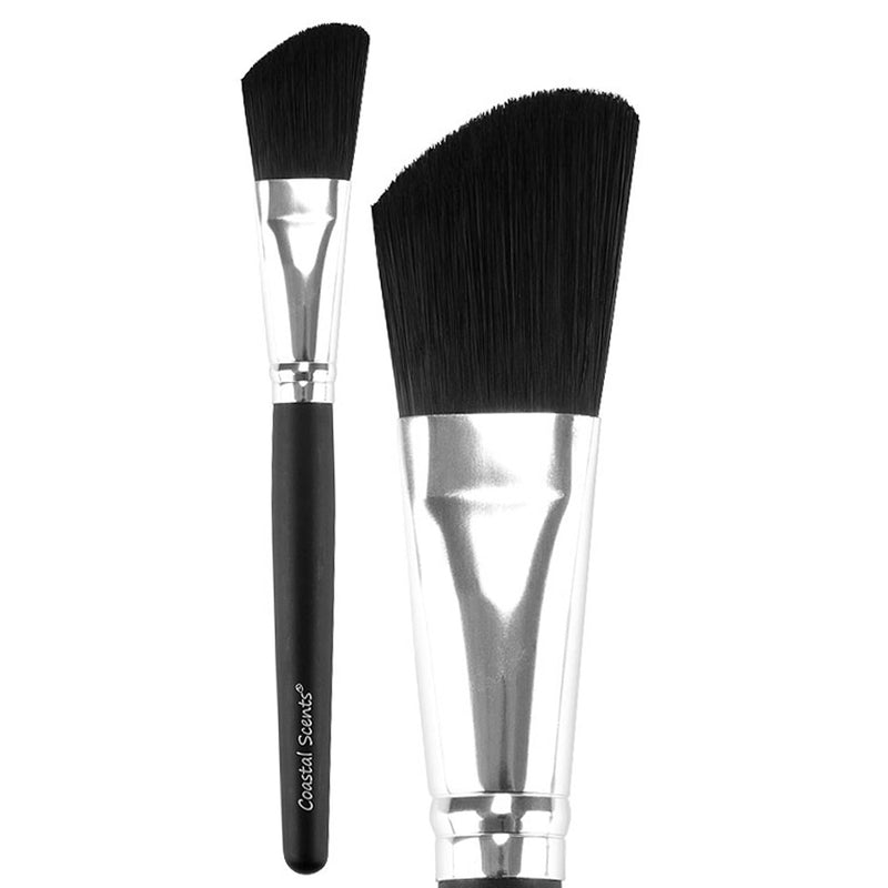Classic Angled Foundation Synthetic Makeup Brush By Coastal Scents