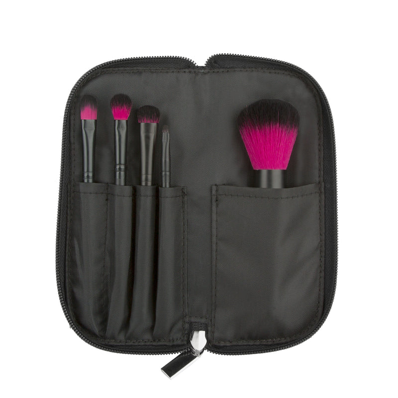 Makeup Brushes - Color Me Fuchsia Makeup Brush Set By Coastal Scents
