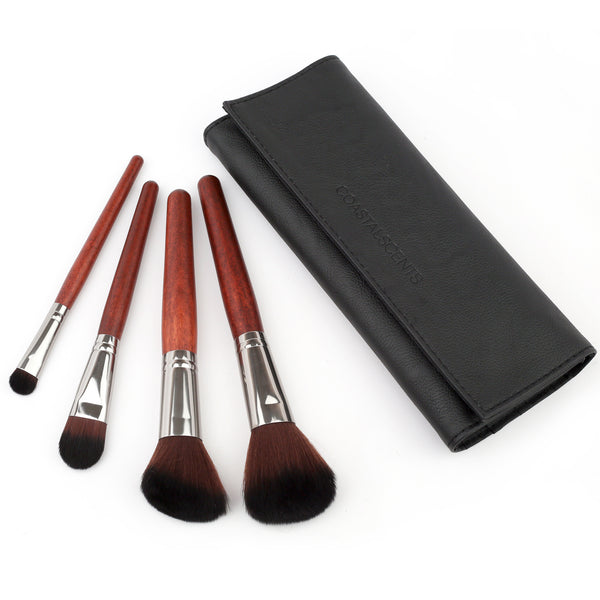 4 Piece Makeup Brush Set