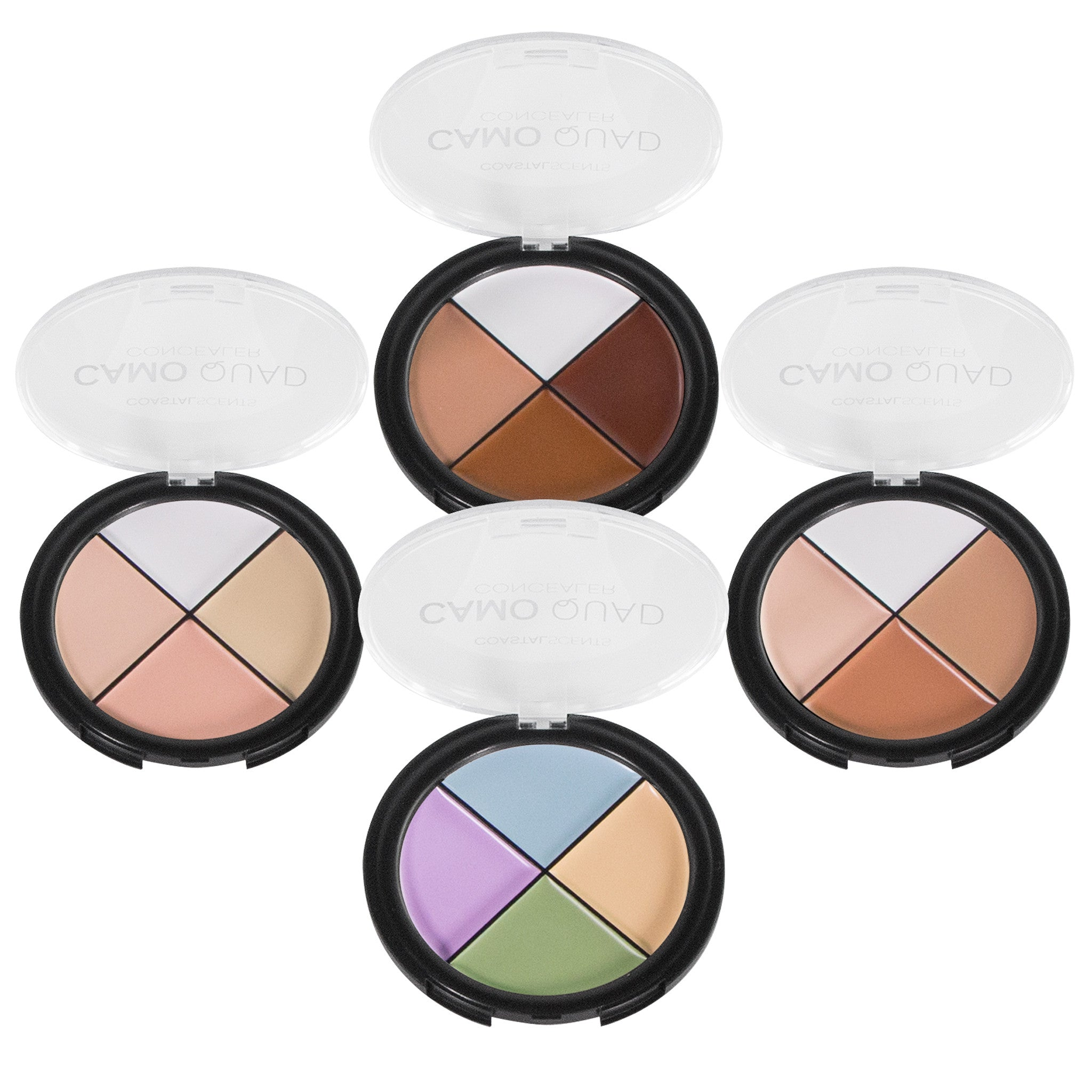 Makeup Concealer - Camo Quad Concealers and Corrector By Coastal Scents