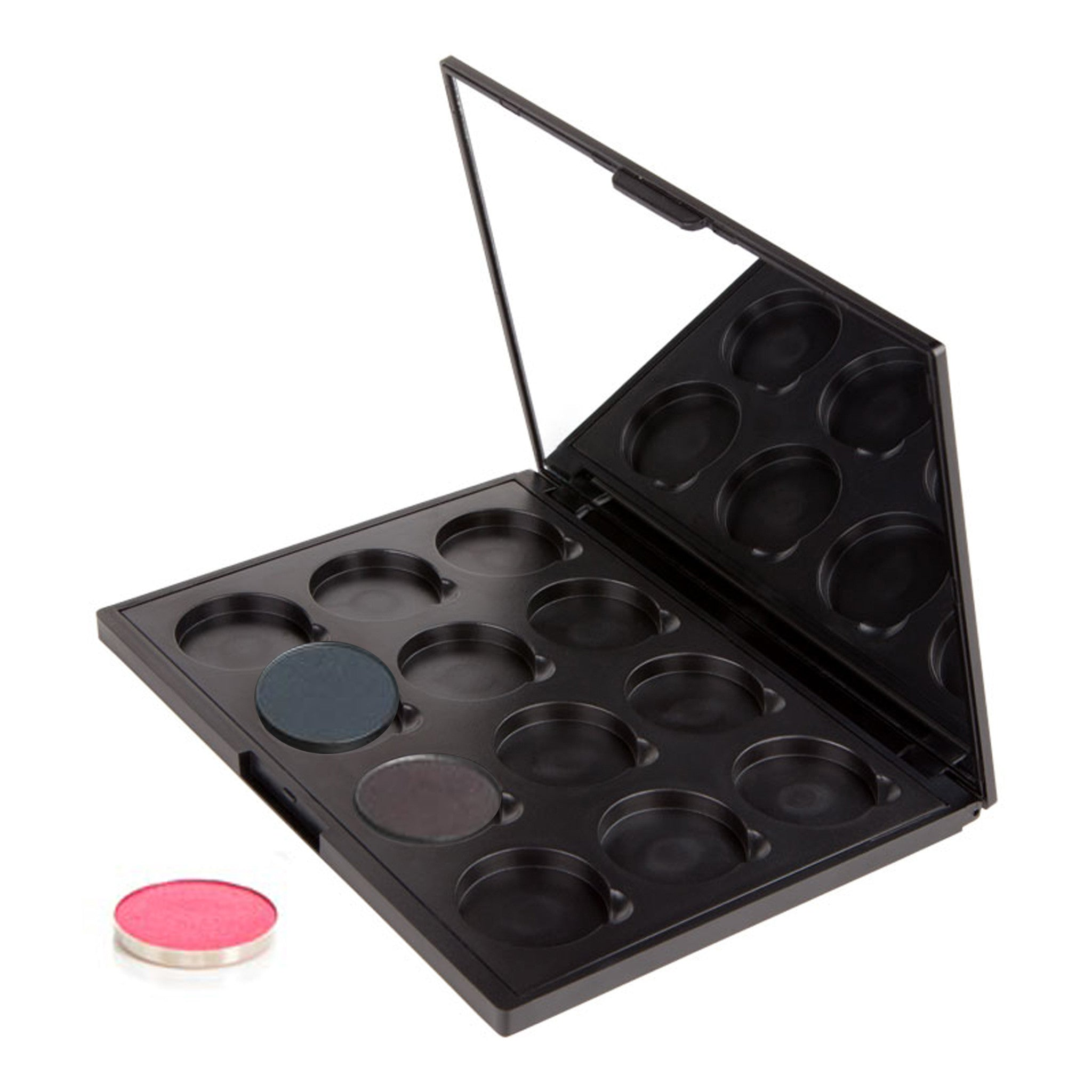 Makeup -Empty Palette - Empty Palette: 12 Shadows with Mirror With Hot Pots By Coastal Scents