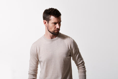 Three ways to wear a woollen sweater.