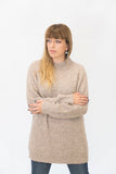 Alpaka Strickpullover Simple - Beige