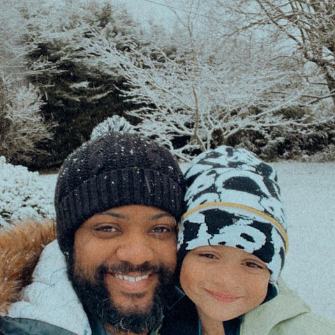 JB Gill, from JLS with Little Hotdog Watson's Rookie Panda Beanie