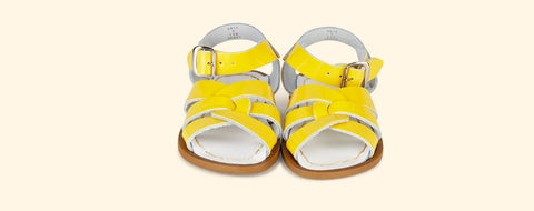 Salt Water Sandals shoe recommendation for kids spring wear as featured on Little Hotdog Watson blog