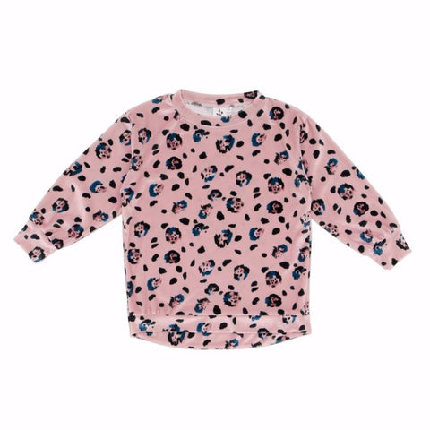 pale pink leopard print sweatshirt as featured on little hotdog watson blog