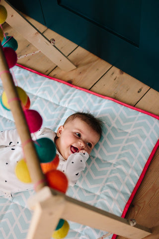 Little Hotdog Watson give perfect baby gift ideas including the 'Go Everywhere Mat' from Avery Row