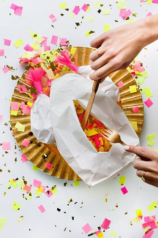 DIY confetti turkey for thanksgiving