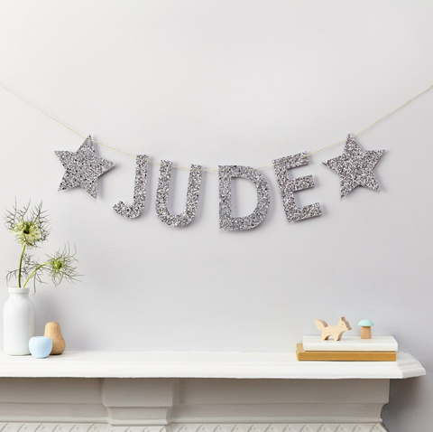 Garland Names for the nursery best baby gifts on Little Hotdog Watson blog