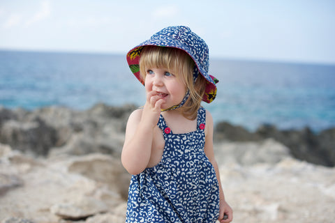 Globetrotter children's sun hat from Little Hotdog Watson with UV protection