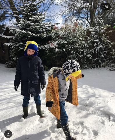 Image of Children playing in the snow on Little Hotdog Watson's blog