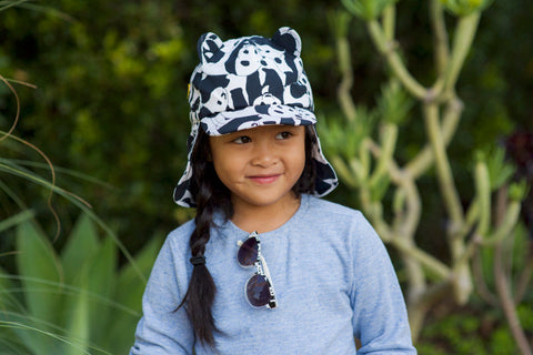 Little Hotdog Watson feature their panda print kids hat in latest blog