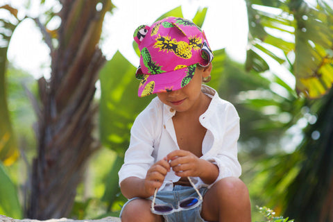 Little Hotdog Watson feature their pineapple print kids hat in latest blog