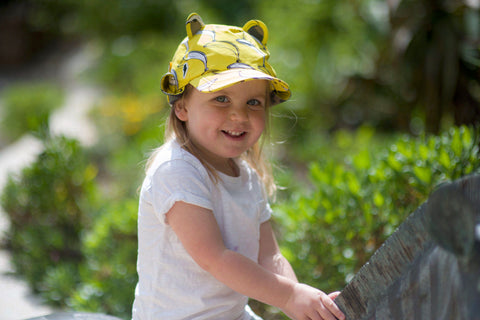 Little Hotdog Watson feature their Banana Print Kids Hat in latest blog