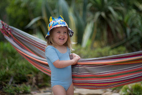 Little Hotdog Watson feature their navigator hat in toucan print