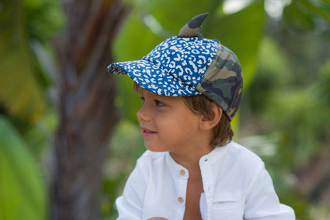 Little Hotdog Watson feature their trailblazer hat in leopardtude and camo