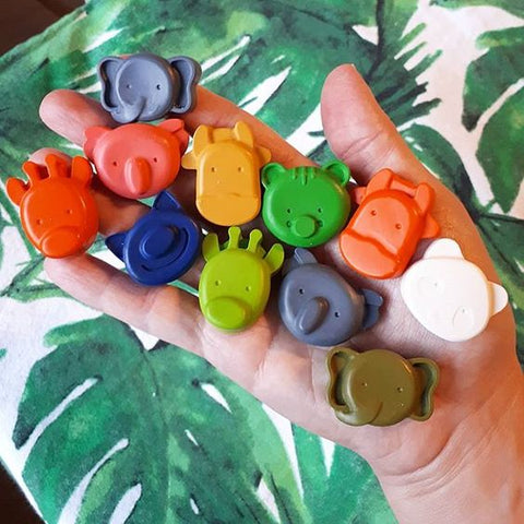 Kids Animal Shaped Coloured Crayons by Little Scribble