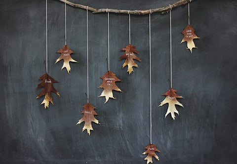 Metallic leaf garland