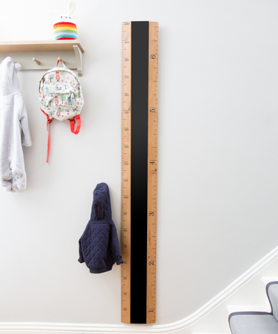 Wooden kids height ruler chart