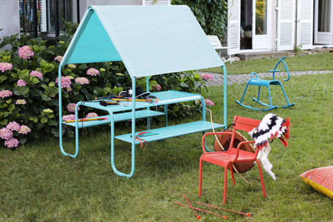 Fermob kids outdoor blue picnic hut