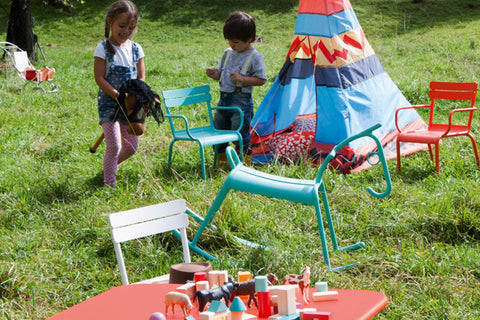 Fermob outdoor kids colourful furniture