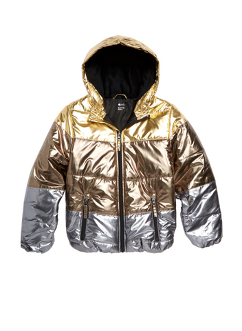 Metallic Nordstrom kids jacket