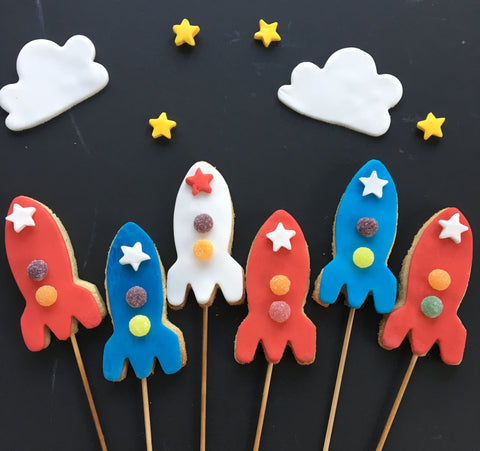 Rocket biscuits for bonfire night