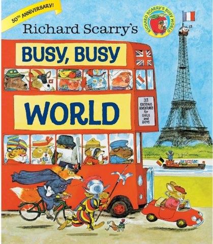 Busy Busy World travel book recommendation for kids on Little Hotdog Watson blog