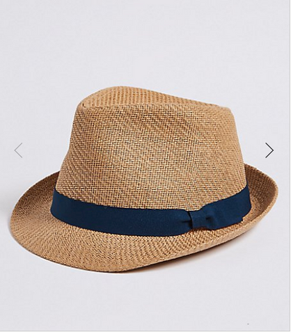 Sun hat for dads from Marks and Spencer as featured on Little Hotdog Watson's beach hat blog