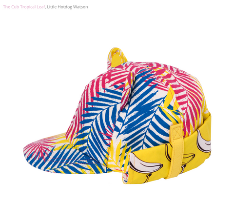 Little Hotdog Watson Cub Hat in print Tropical Leaf was featured on My Baba Magazine