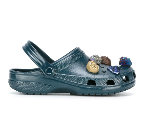 Christopher Kane crocs with gems on them