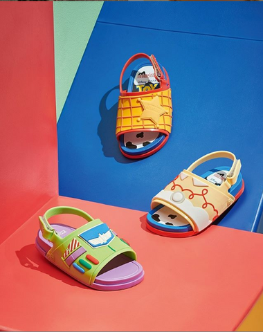 Three Toy Story jelly shoes