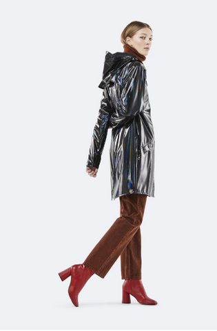 Womens holographic raincoat