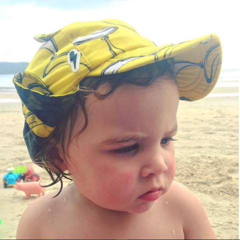 Little Hotdog Watson Cub Kids Sun hat as featured in Clemmie Telford Mother of All Lists, Travel Guide