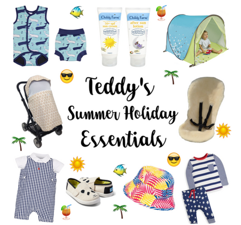 You The Daddy Article on Holiday Essentials for children including Little Hotdog Watson sunhats