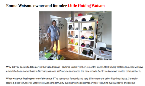 Emma Watson, founder Little Hotdog Watson interview with Pirouette Blog.