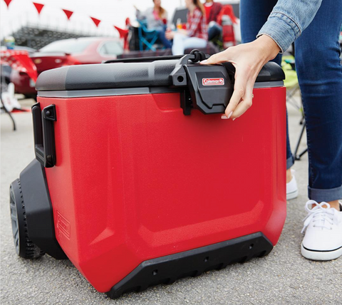 The Coleman Rugged All-Terrain Wheeled Cooler Featuring in Little Hotdog Watson's Blog
