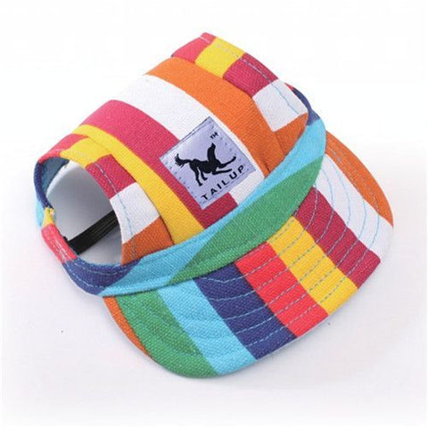 Sun hat for dogs as featured on Little Hotdog Watson's beach hat blog