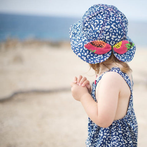 Little Hotdog Watson feature their globetrotter kids hat in leopardtude in latest blog
