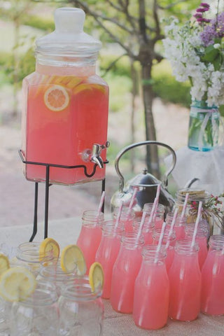 Children's mocktail drinks garden summer parties on Little Hotdog Watson blog