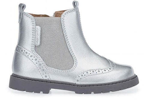 Startrite Children's chelsea boots in metallic silver as featured on little hotdog watson blog