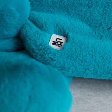 turquoise fur kids scarf from Little Hotdog Watson