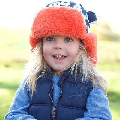 Kids Panda Trapper Hat