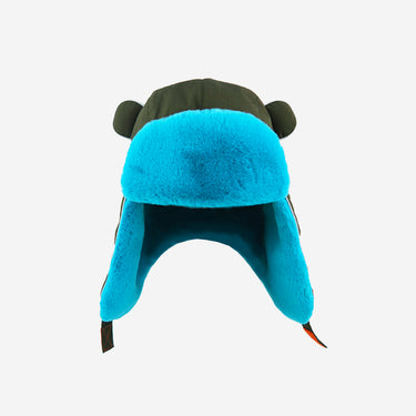 Watson Adults Khaki Turquoise winter hat Front View
