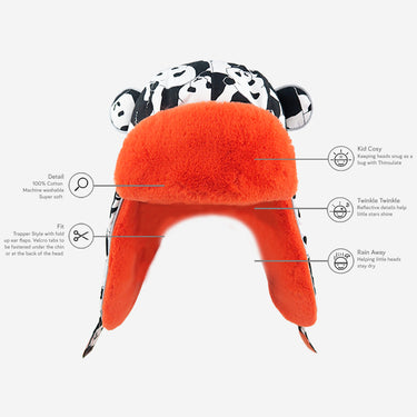 Childrens Arctic Cub Panda Pop Orange Technology Benefits